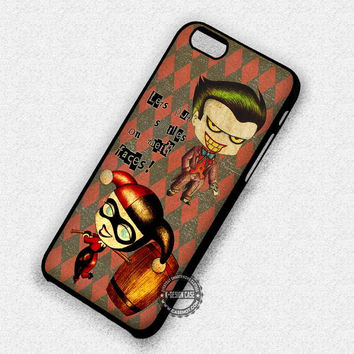 Put The Smiles Joker Harley Quinn Couple - iPhone 7 6 5 SE Cases & Covers
