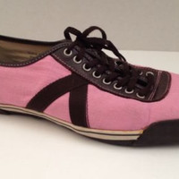 PF Flyers Shoes Womens Size 10 M Pink Fashion Sneakers UK 8 PF0193 Canvas 10M