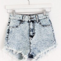 Acid Wash CutOff Shorts