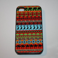 Hard Apple iPhone Case Africa African Pattern by CreateItYourWay
