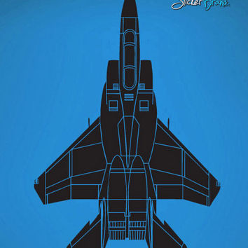 Vinyl Wall Decal Sticker fighter Jet #529