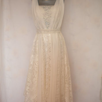 wedding dress bohemian wedding gown fairy beach wedding romantic mori girl dress made to order