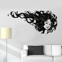 Vinyl Wall Decal Barbershop Hairdressing Beauty Salon Hair Stylist Stickers Unique Gift (1008ig)