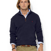 Polo Ralph Lauren French-Rib Half-Zip Mock Neck Pullover