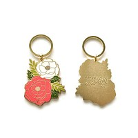 IRENE FLORAL CLUSTER KEYCHAIN