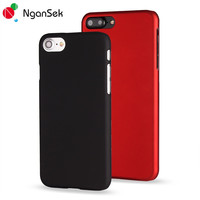 NganSek Mobile Phone Cases For iPhone SE 4 4S 5 5S 6 6s 7 Plus Cases Cover Simple Plain Colorful Phone Case