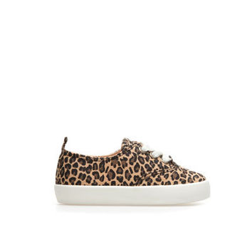 Leopard print plimsoll - Shoes - Baby girl - Kids | ZARA United States