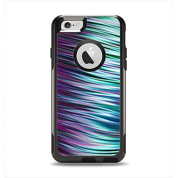 The Pink & Blue Vector Swirly HD Strands Apple iPhone 6 Otterbox Commuter Case Skin Set
