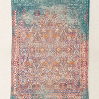 Isolde Distressed Print Chenille Rug | Urban Outfitters