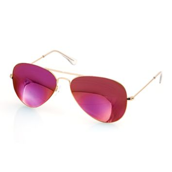 Aqs Unisex James Mirrored Aviator Sunglasses | Bluefly