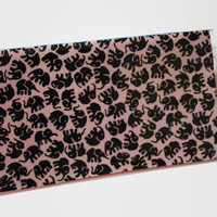 Checkbook Cover / Holder / Case - Black Elephants