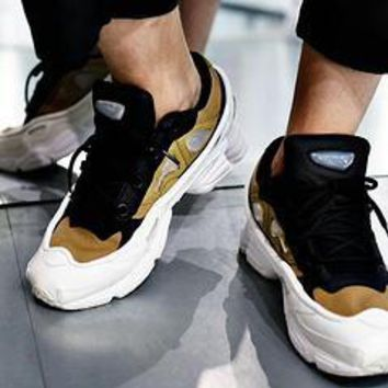 Raf Simons x Adidas Consortium OzweegoIII Black White Women Men Casual Trending Running Sports Shoes Sneakers