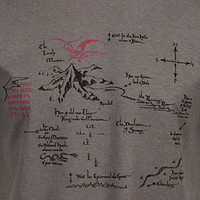Hobbit Thorin's Map Shirt