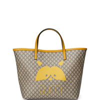 Girls' Micro GG Supreme Raccoon-Graphic Tote Bag, Beige - Gucci