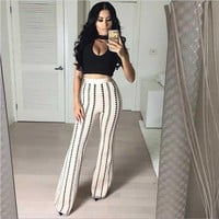 Elastic Two Piece Jumpsuit