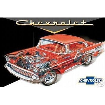 57 Chevy (Cut Out) Art Poster Print