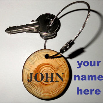 Keychain drummers funny quote drums. Wooden key chain, wood keyring. Drummer key accessories, personalized key ring. Custom name keychain.