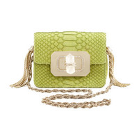 Marchesa Phoebe Small Python Shoulder Bag, Chartreuse
