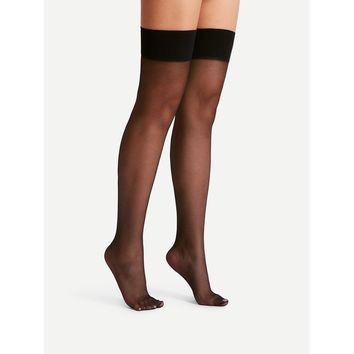 Over The Knee Mesh Socks