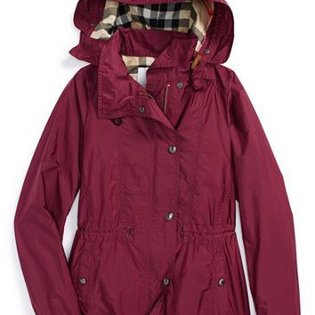 Girl's Burberry 'Marylesdale' Hooded Nylon Jacket,