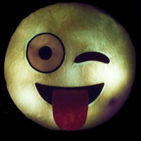 WINKY LITE UP EMOJI PILLOW