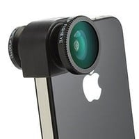 Amazon.com: Olloclip Quick-Connect Lens Solution (Fisheye Lens, Macro Lens, Wide-angle Lens)for iPhone 4 / 4S - OC-IPH4-FWM-R - Red: Cell Phones & Accessories