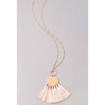 Drop Statement Necklace - Mint, Lt Pink, Drk Blush
