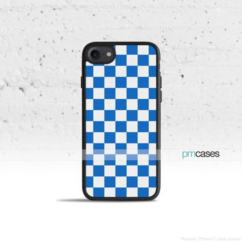 Checkerboard Blue Phone Case Cover for Apple iPhone iPod Samsung Galaxy S & Note