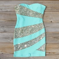 Snow Globe Party Dress in Mint