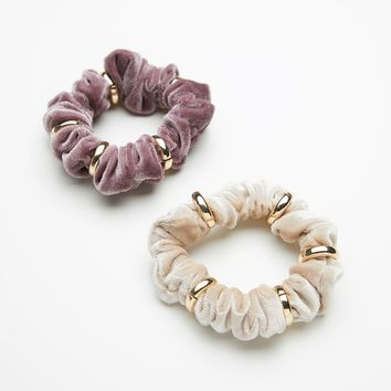 Free People Ringed Velvet Scrunchies