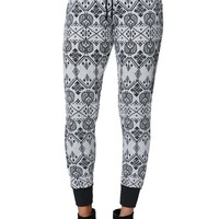 LA Hearts Printed Jogger Pants - Womens Pants - Gray