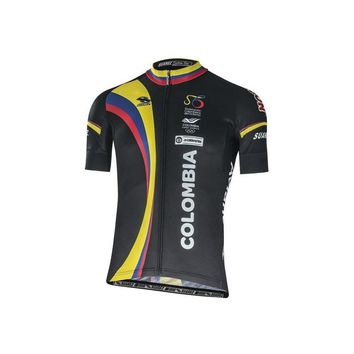 New Men Cycling Jersey Comfortable Bicycle shirt and long Colombian flag/national emblem Alien Sports Wear cyclingXS-6L