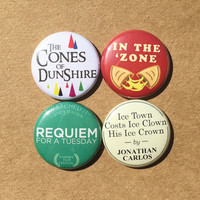 "Ben Wyatt, Parks & Recreation buttons - 4 x 1"" pinback buttons or magnets, Pawnee, Parks and Rec, Knope"