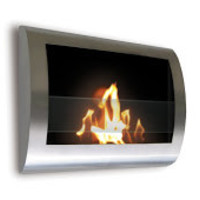 Chelsea Stainless Steel Wall Mount Bio-Ethanol Fire Pit