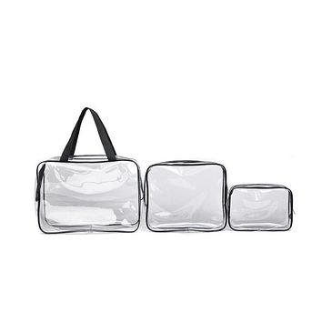 Custom PVC cosmetic make up bag Clear Plastic Vinyl Pouch