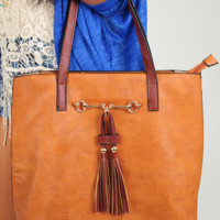 Perfectly Polished Purse: Cognac