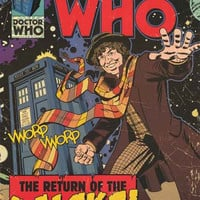 Doctor Who Return of the Daleks Comic Book Poster 24x36