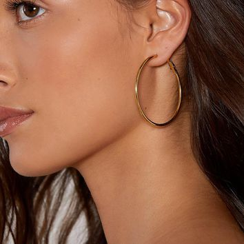 Stone Gold Fox Hoop Earrings