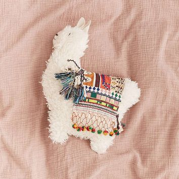 Furry Llama Cushion - Urban Outfitters