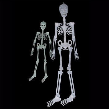 1Pcs Horror Luminous Movable Skull Skeleton Halloween Props Glow Evil Party Favors halloween eve Scary Halloween Decoration
