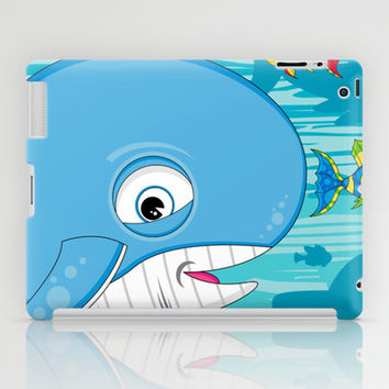 Cute Whales & Fish iPad Case by markmurphycreative