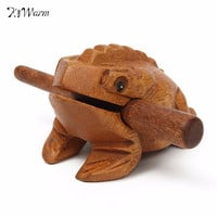 Thailand Traditional Craft Wooden Lucky for Frogs Home Office Decoration 70*45*50mm Art Figurines Decorative Miniatures Gift