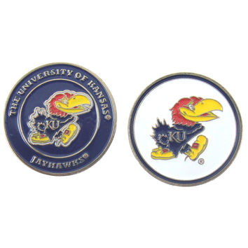 Kansas Jayhawks Double Sided KU Golf Ball Marker