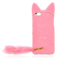 Fluffy Cat with Tail Case for iPhone 4/ 4S