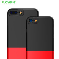 FLOVEME 360 Degree Camera Protective Case For Apple iPhone 7 iPhone7 6 6s Plus Rubber Smooth Texture Cover Phone Fundas Coque