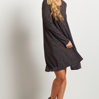 Charcoal-Solid-Ribbed-Long-Sleeve-Sweater