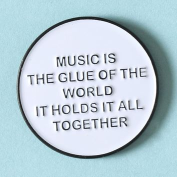 Music Enamel Pin - Pins+Patches - Accessories at Gypsy Warrior