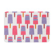 "Alik Arzoumanian ""Pop"" Pink Purple Memory Foam Bath Mat"