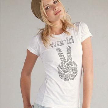 World Peace tshirt  Women's SUPER soft Alternative by rctees
