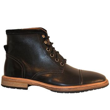 Florsheim Indie Cap Boot - Black Leather Lace-Up Boot